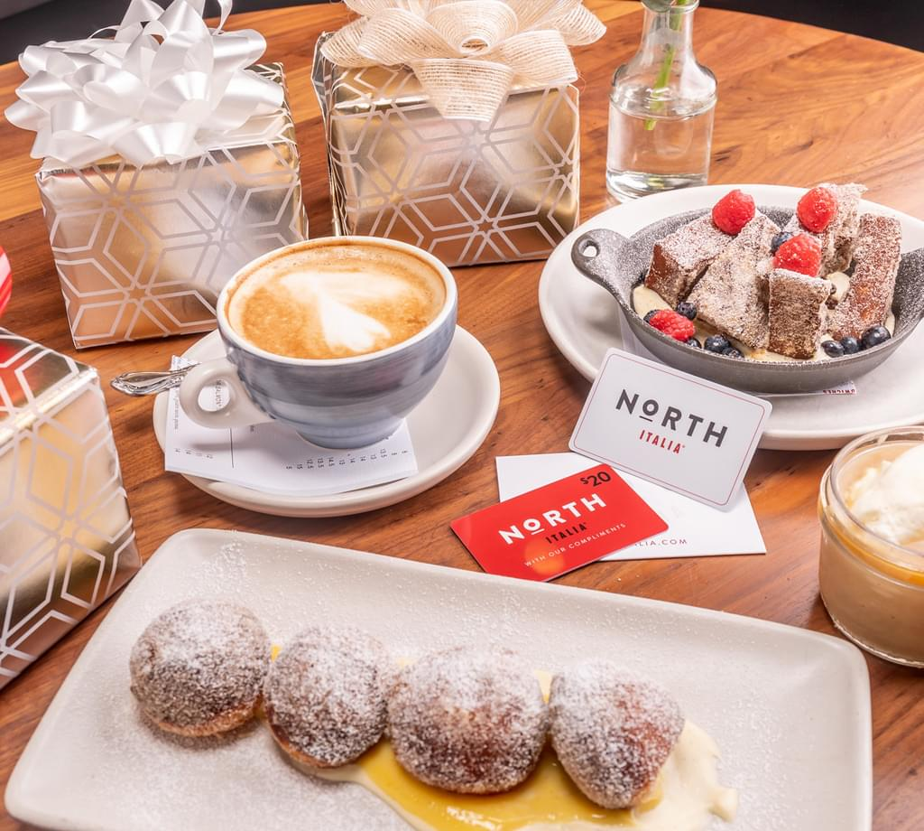 North Italia Gift Cards - $100 for them, $20 for you!